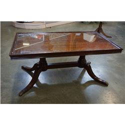 GLASS INSERT DUNCAN PHYFE COFFEE TABLE