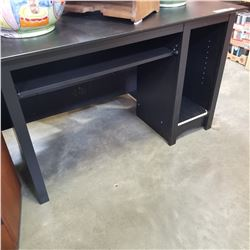 BLACK IKEA SINGLE PEDASTAL DESK