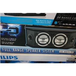 2 COMPACT FULL RANGE SPEAKER SYSTEMS BY SCOSCHE