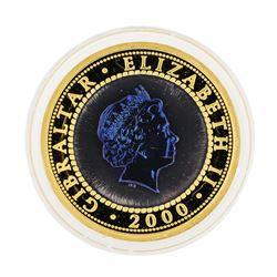 2000 Bi-Metal Gold and Titanium Tuppenny Blue Crown 1oz Coin