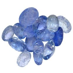16.45 ctw Oval Mixed Tanzanite Parcel