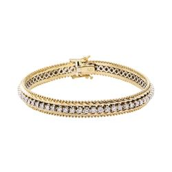 1.85 ctw Diamond Bracelet - 14KT Yellow And White Gold