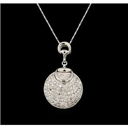 14KT White Gold 2.75 ctw Diamond Pendant With Chain