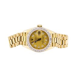 Rolex 0.40 ctw Diamond President Wristwatch  - 18KT Yellow Gold