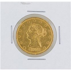 1851 $10 Liberty Head Eagle Gold Coin