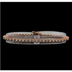 14KT Rose Gold 1.78 ctw Diamond Tennis Bracelet