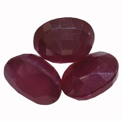 18.66 ctw Oval Mixed Ruby Parcel