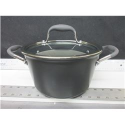 New 4.3 liter Covered Saucepot by Anolon/ Dupont Non stick inside & out /