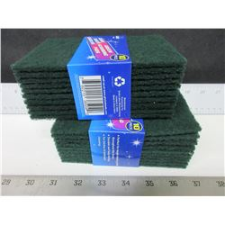 2 New packs of  Green Scouring Pads / 10 per pack