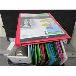 Box of 15 binders/folders assorted colors