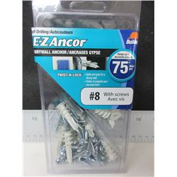 New E-Z Anchor Drywall Anchors 50ct with Screws