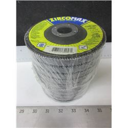 "New case of 10 Flap Disks / ZircoMax high density 4-1/2"" x 7/8    80 grit"
