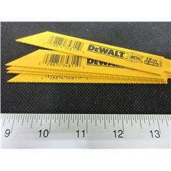 """5 New DeWalt Recip/Sawzall Blades  metal/BI-Metal 6"""""""