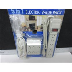 New Wall Plugs / Surge Protector / Night Light and Extension Cord