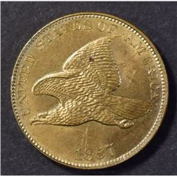 1857 FLYING EAGLE CENT  CH BU  SUPER STRIKE!!