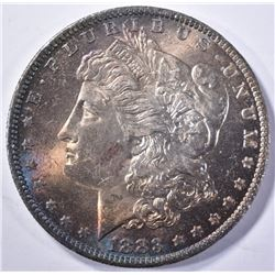 1883-O MORGAN DOLLAR, CH BU RAINBOW COLORS