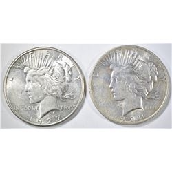 1927-D&S PEACE DOLLARS, AU