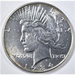 1934 PEACE DOLLAR CH BU