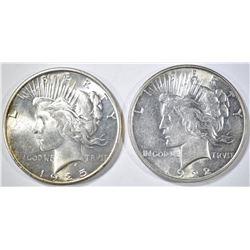 1922-D AU/BU & 25 CH BU PEACE DOLLARS