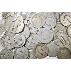 40-90% SILVER QUARTERS MOSTLY LOW GRADE