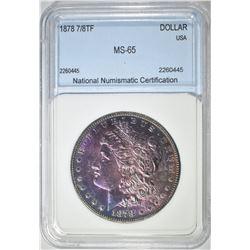 1878 7/8TF MORGAN DOLLAR NNC GEM BU COLOR