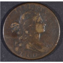 1800 LARGE CENT, VF/XF
