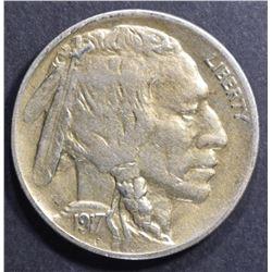 1917-D BUFFALO NICKEL AU