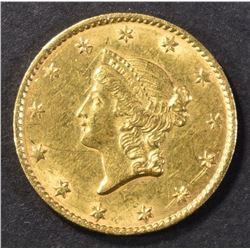 1849 TYPE 1 GOLD DOLLAR AU/BU