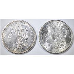 1921-P,D MORGAN DOLLARS CH BU