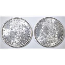 1888, 89 MORGAN DOLLARS CH BU