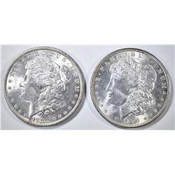 1890, 91 MORGAN DOLLARS CH BU