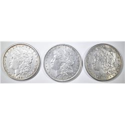 1879-S 80, 81 MORGAN DOLLARS AU