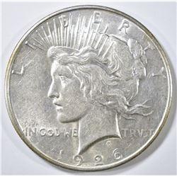 1926-D PEACE DOLLAR, AU/BU
