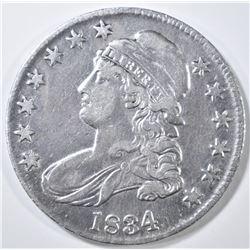 1834 BUST HALF DOLLAR XF/AU