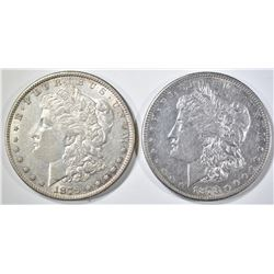 1878-S & 79 MORGAN DOLLARS AU