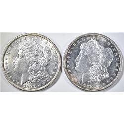 1880-S & 82-O MORGAN DOLLARS BU
