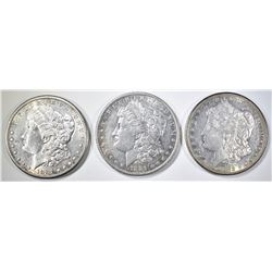 1881-O,S, 82-S MORGAN DOLLARS AU/BU