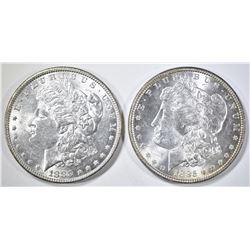 1883 & 85 MORGAN DOLLARS BU