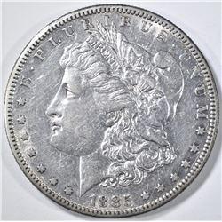 1885-S MORGAN DOLLAR AU