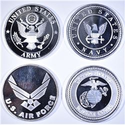 ARMY, NAVY, AIR FORCE & MARINES