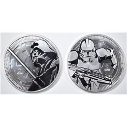 NIUE ONE OUNCE SILVER STAR WARS COINS