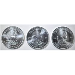 3-2018 S. AFRICA ONE OUNCE SILVER KRUGERRANDS