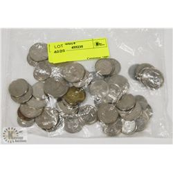 BAG OF STORAGE LOCKER COINS