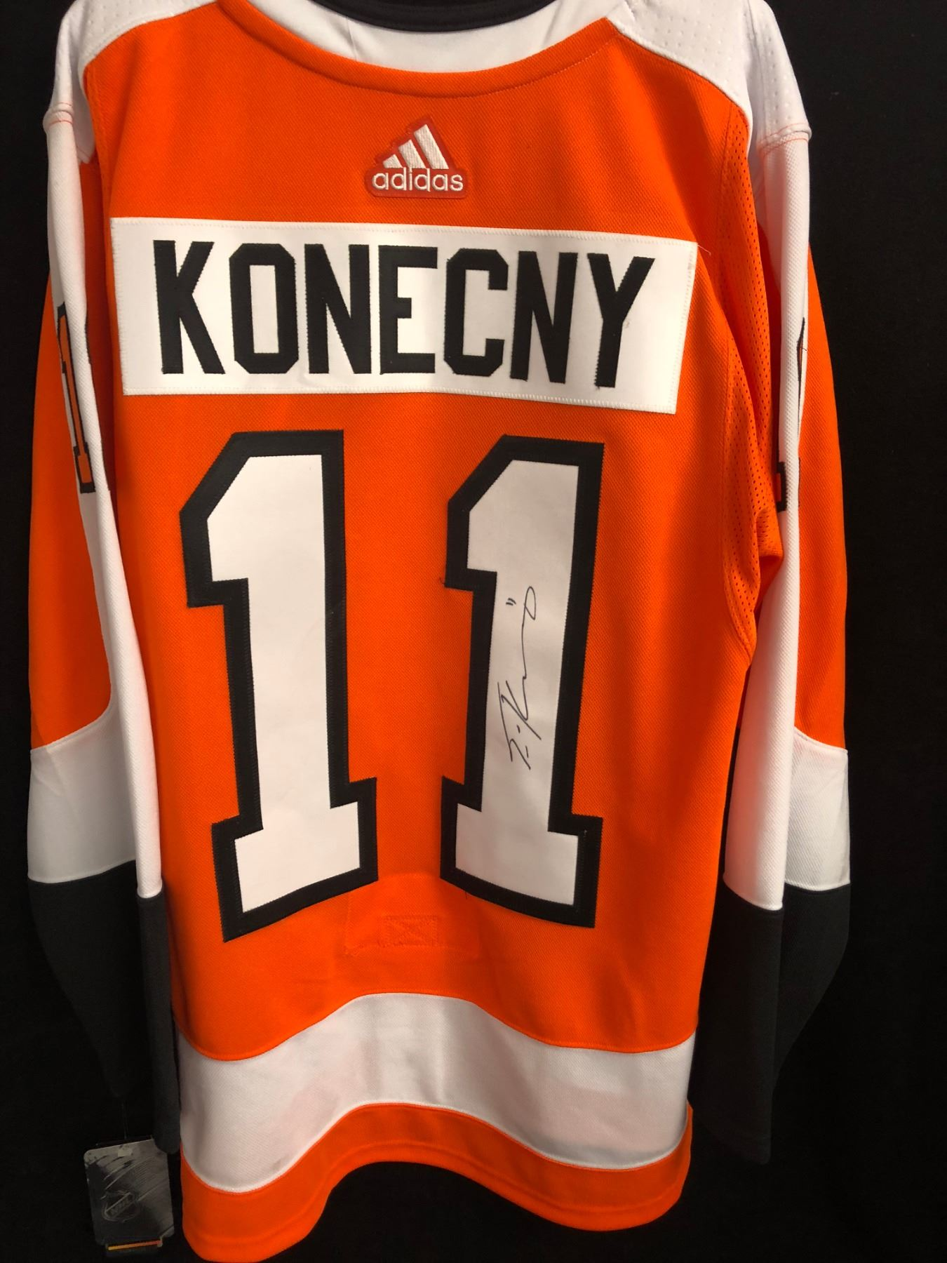newest c13d6 98327 TRAVIS KONECNY SIGNED ADIDAS FLYERS JERSEY