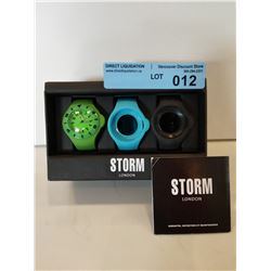 STORM POP-X GREEN WATCH W/ EXTRA BANDS