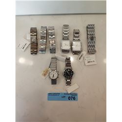 LOT OF 8 X CK STAINLESS STEEL WATCHES