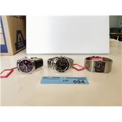 LOT OF 3X CANDINO MENS STAINLESS STEEL WATCHES