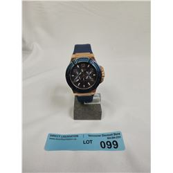 GUESS SERIES MOVEMENT WATCH - BLUE RUBBER STRAP