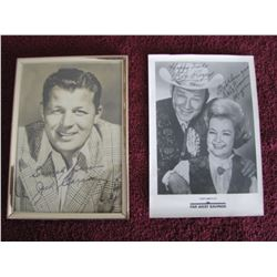 SIGNED JACK CARSON AND ROY RODGERS LOT