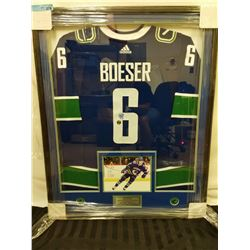 SIGNED/FRAMED BROCK BOESER JERSEY WITH PHOTO